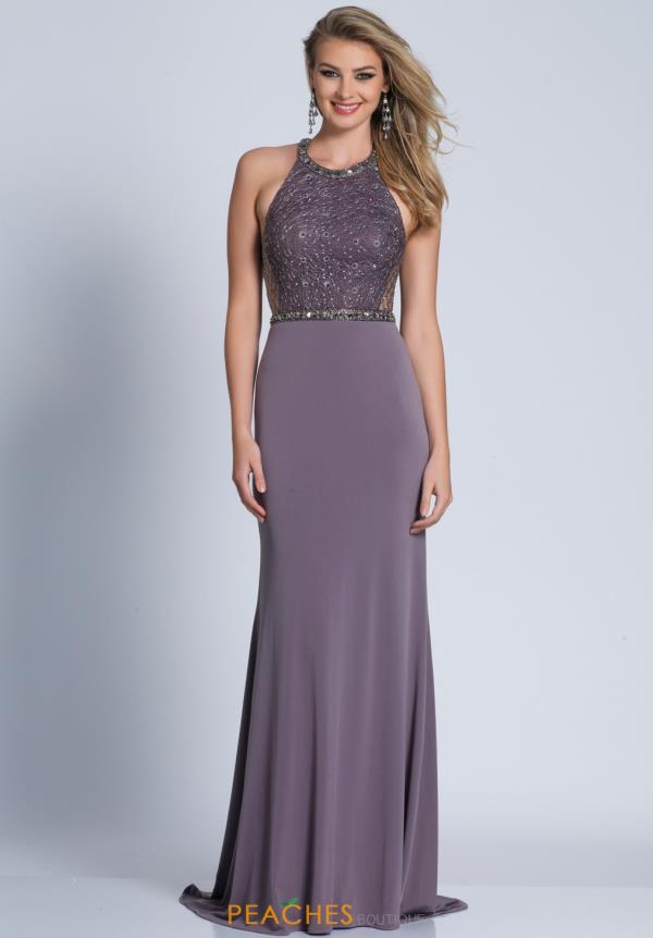 Dave and Johnny Long Fitted Dress 3214