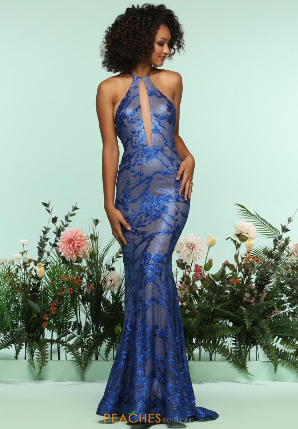 Zoey Grey Sequins Halter Dress 31248