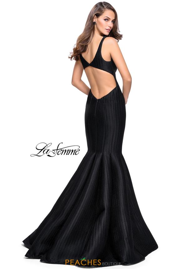 La Femme V-Neck Mermaid Dress 24773