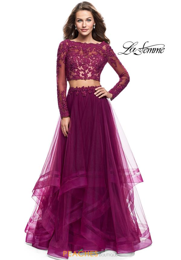 La Femme Two Piece Tulle Dress 25300