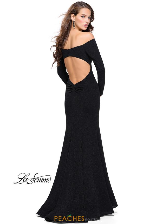 La Femme Long Sleeve Fitted Dress 25412