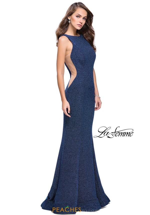 La Femme Open Back Jersey Dress 25421