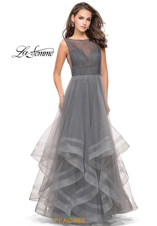 La Femme Full Figured Beaded Dress 25620