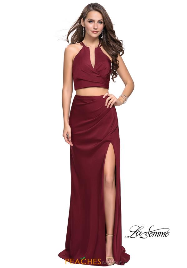 La Femme Two Piece Fitted Dress 25731