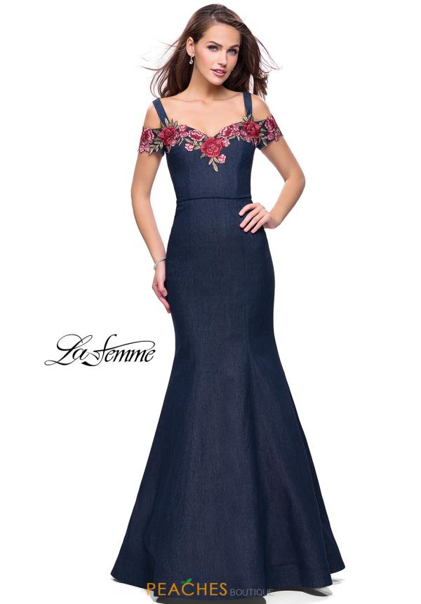 La Femme Cap Sleeved Fitted Dress 25753