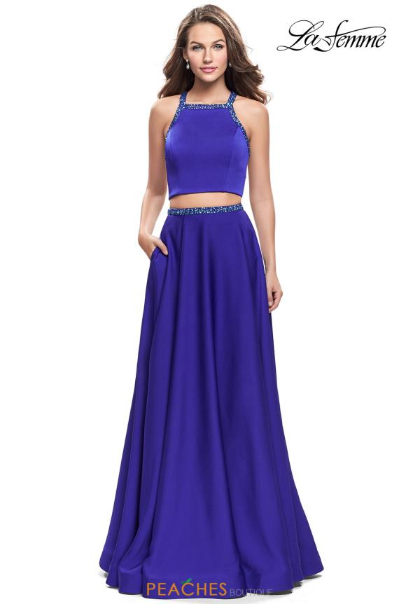 La Femme Two Piece A Line Dress 25978