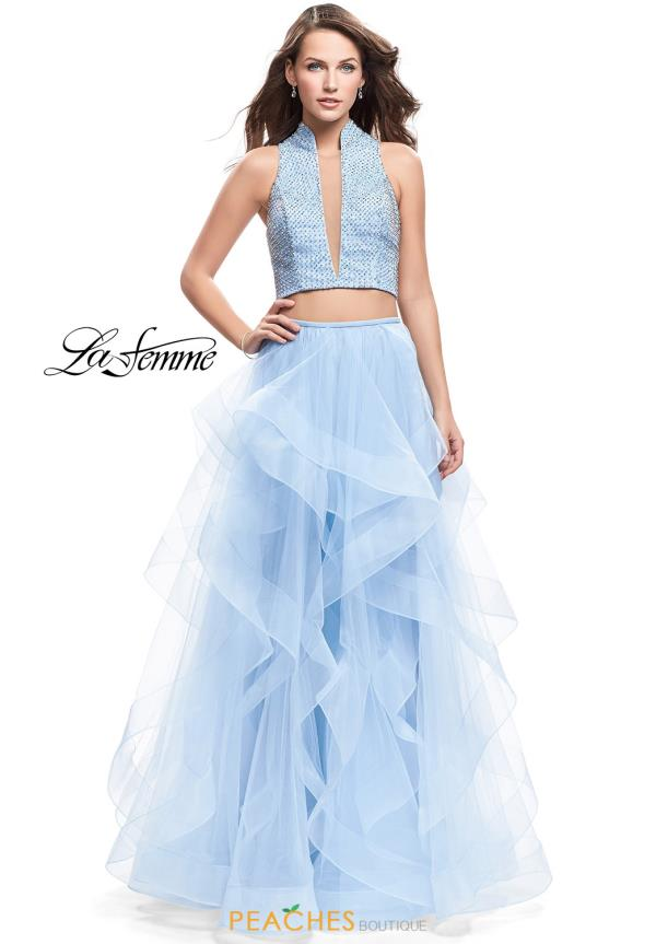 La Femme Two Piece A Line Dress 26240