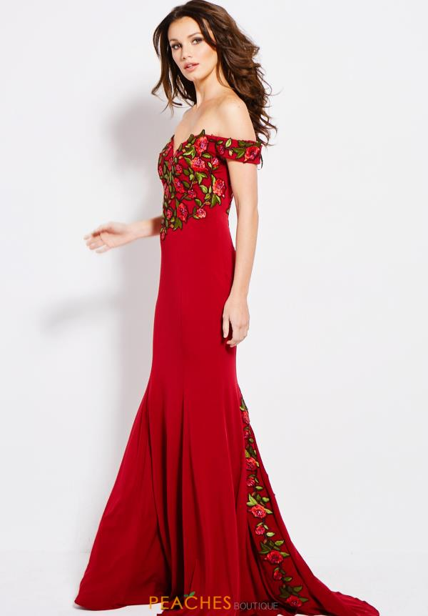 Jovani Cap Sleeved Fitted Dress 59695