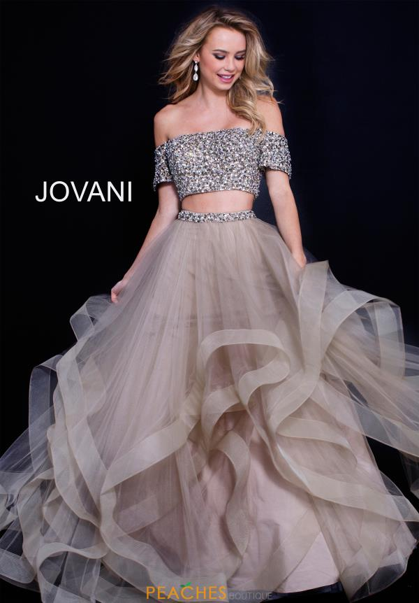 Jovani Beaded Two Piece Dress 59755