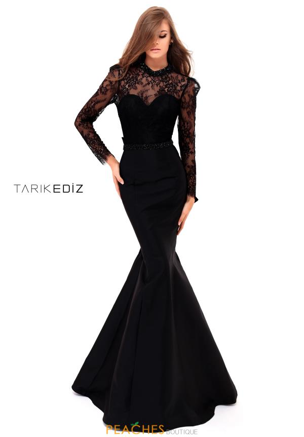 Tarik Ediz Mermaid Long Sleeve Dress 50227
