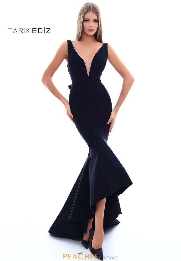 Tarik Ediz V-Neck Fitted Dress 50238