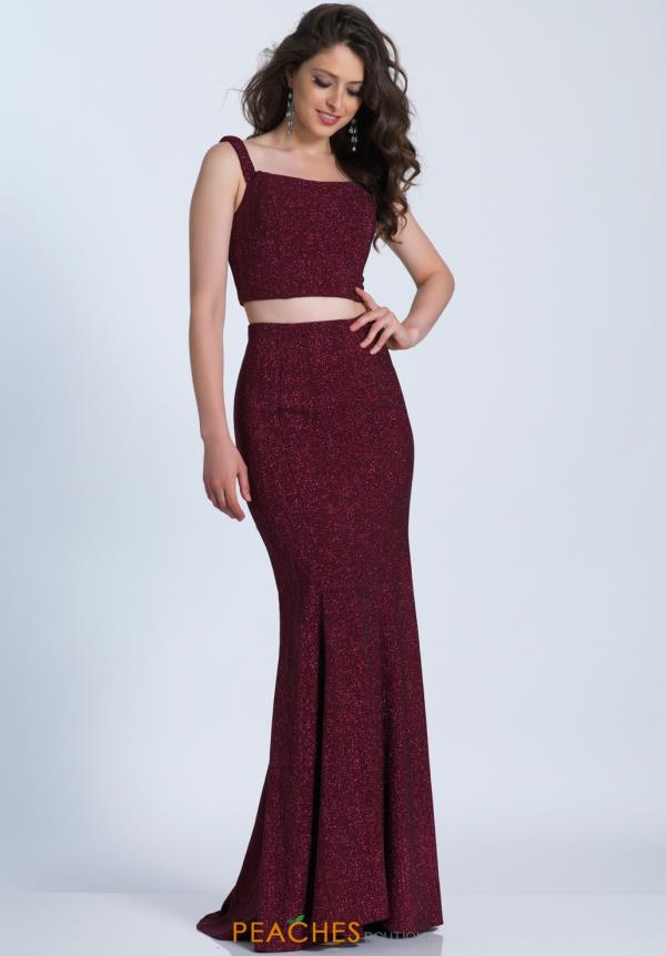 Two Piece Fitted Dave and Johnny Dress 3400