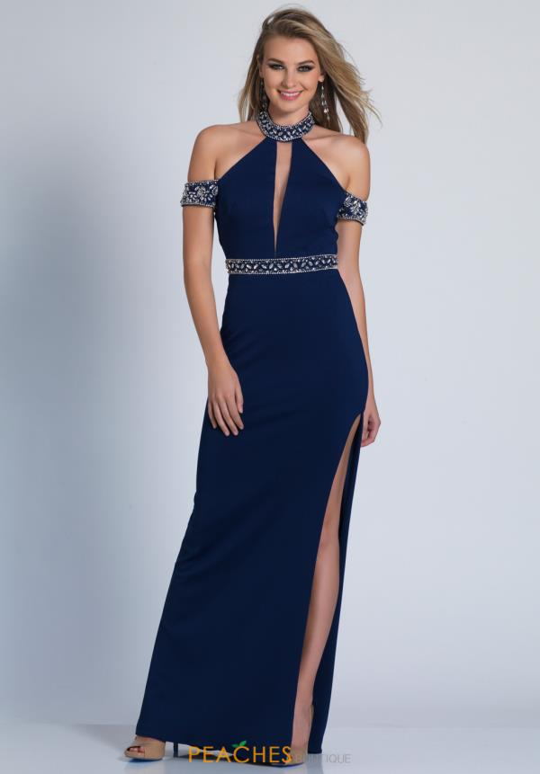 Beaded Dave and Johnny Dress 3404