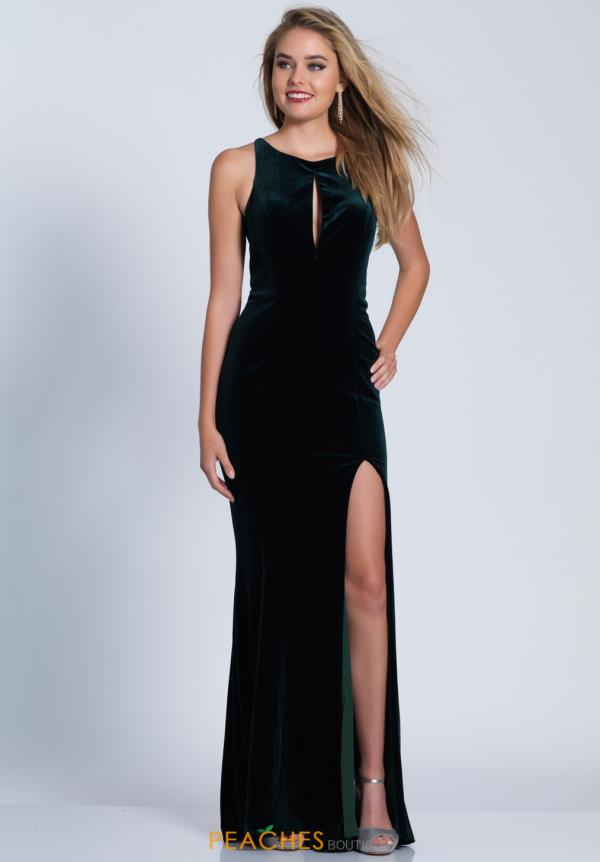 Dave and Johnny Fitted Velvet Dress 3583