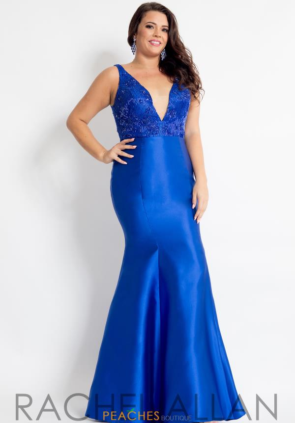 Rachel Allan V- Neckline Mermaid Dress 6310