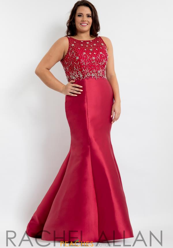 Rachel Allan Beaded Mermaid Dress 6334