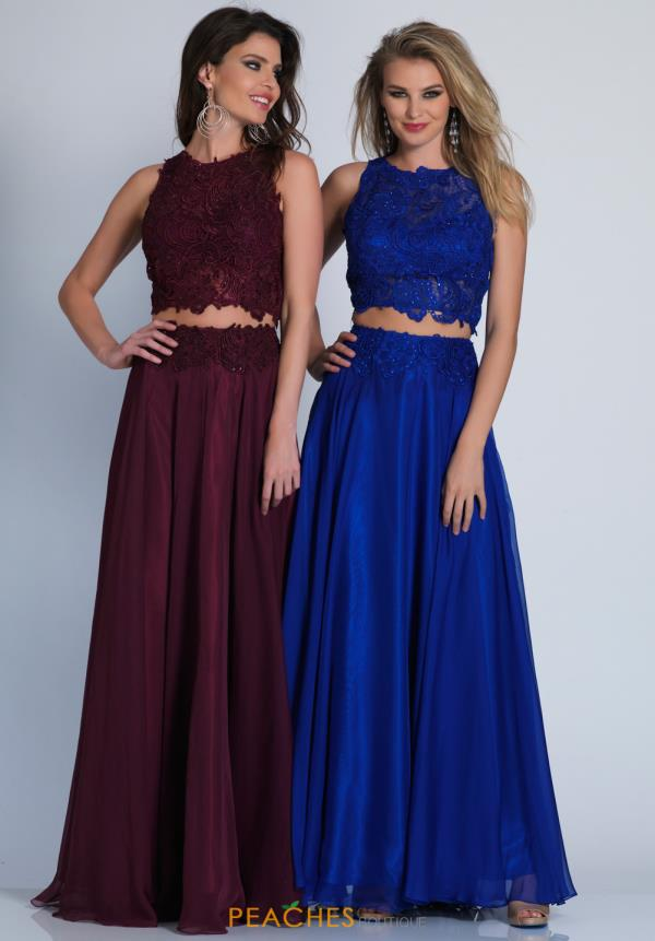 Dave and Johnny Two Piece Long Dress 10001