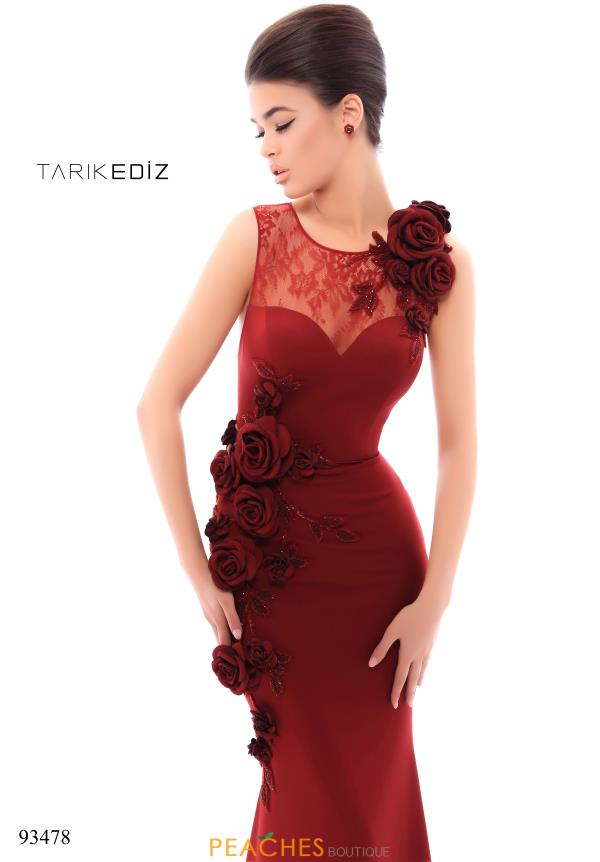 Tarik Ediz Lace Fitted Dress 93478