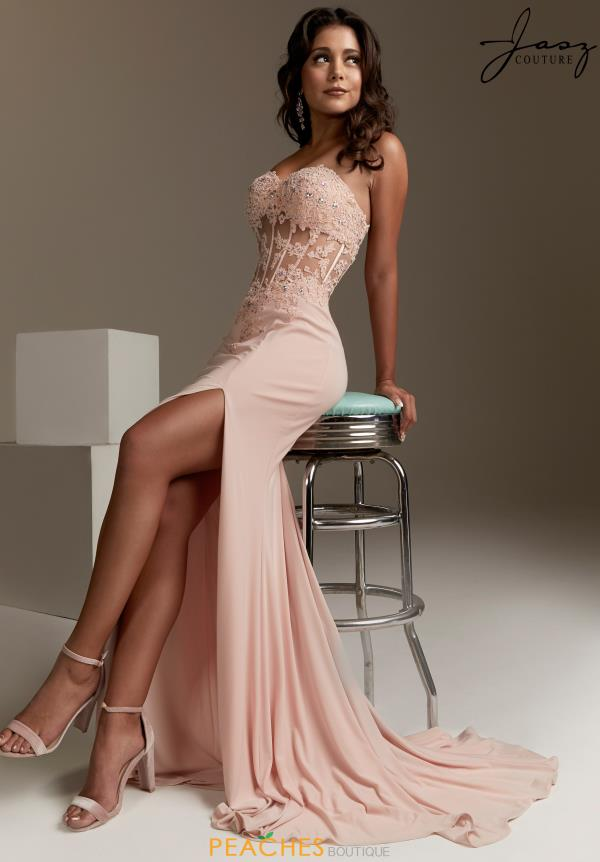 Jasz Couture Long Strapless Dress 5439