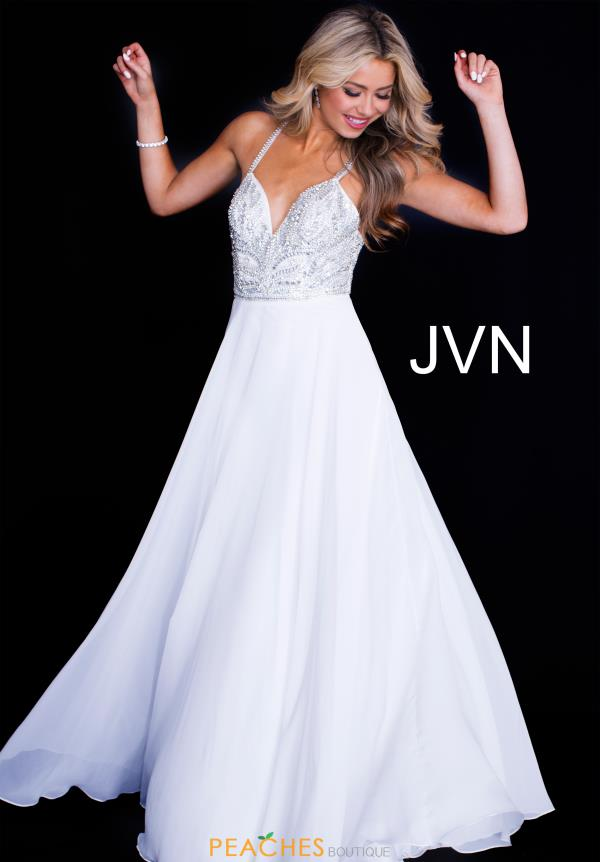JVN by Jovani Beaded A Line Dress JVN55874