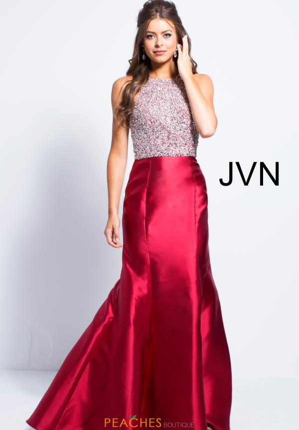 JVN by Jovani High Neckline Beaded Dress JVN57615