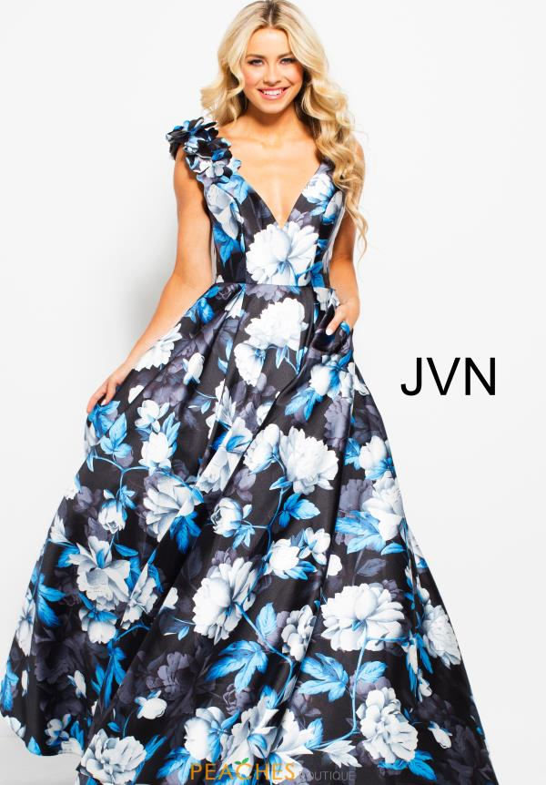 JVN by Jovani Long Print Dress JVN57616
