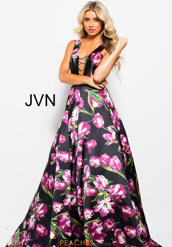 JVN by Jovani Long Print Dress JVN58389