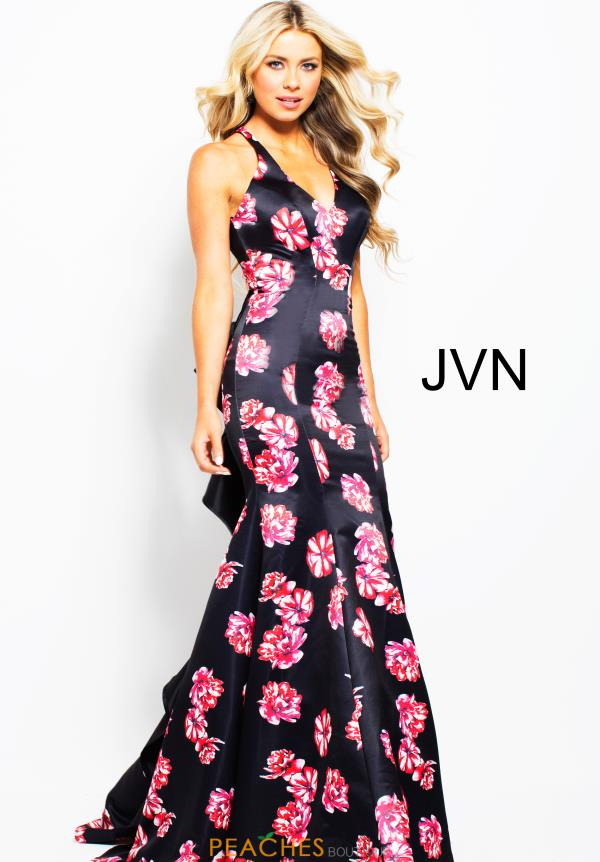 JVN by Jovani Long Print Dress JVN59041