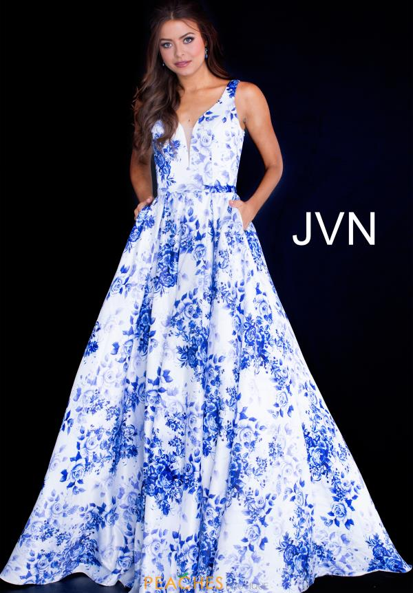 JVN by Jovani Long Print Dress JVN60561