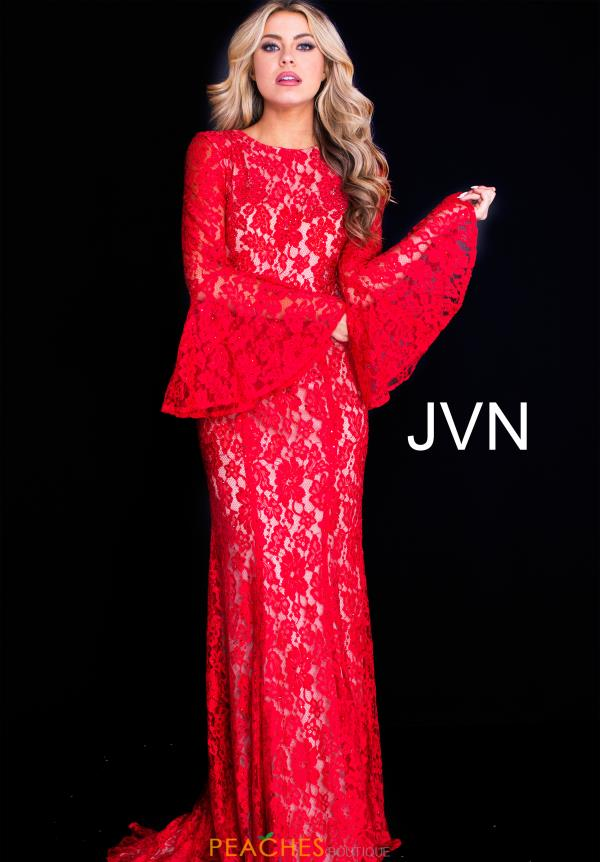 JVN by Jovani Long Sleeved Fitted Dress JVN58144