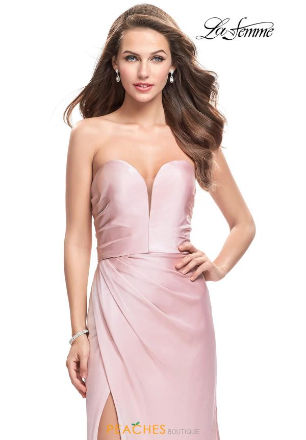 La Femme Strapless Long Dress 26017