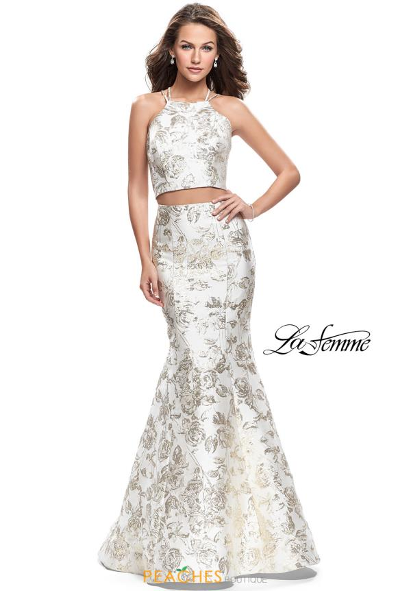 La Femme Two Piece Mermaid Dress 26202