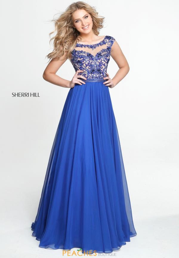Sherri Hill Beaded Long Dress 50986