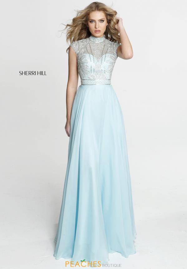 Sherri Hill Beaded A Line Dress 51083