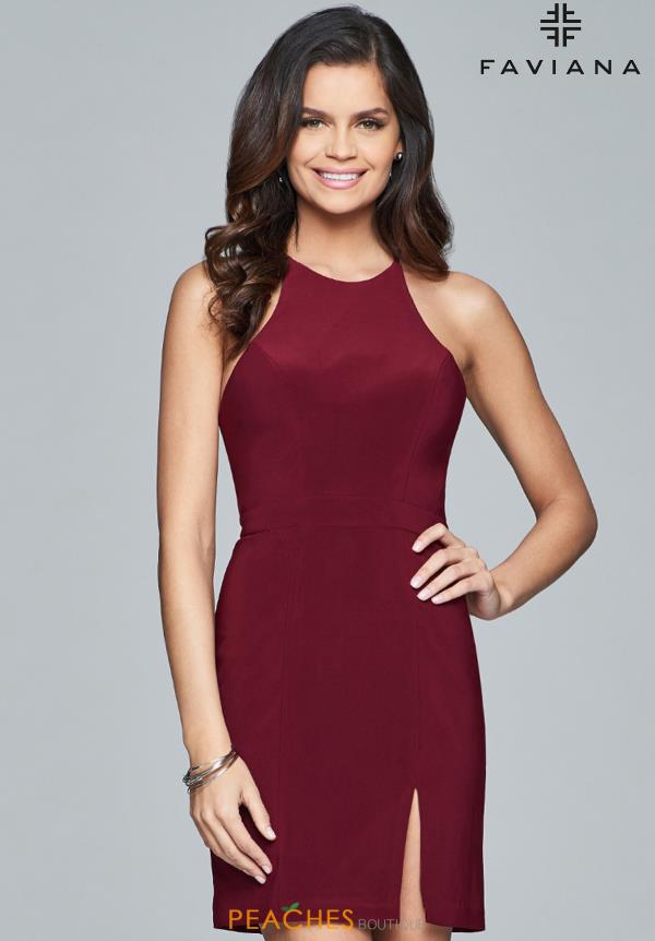Faviana High Neckline Fitted Dress 8053