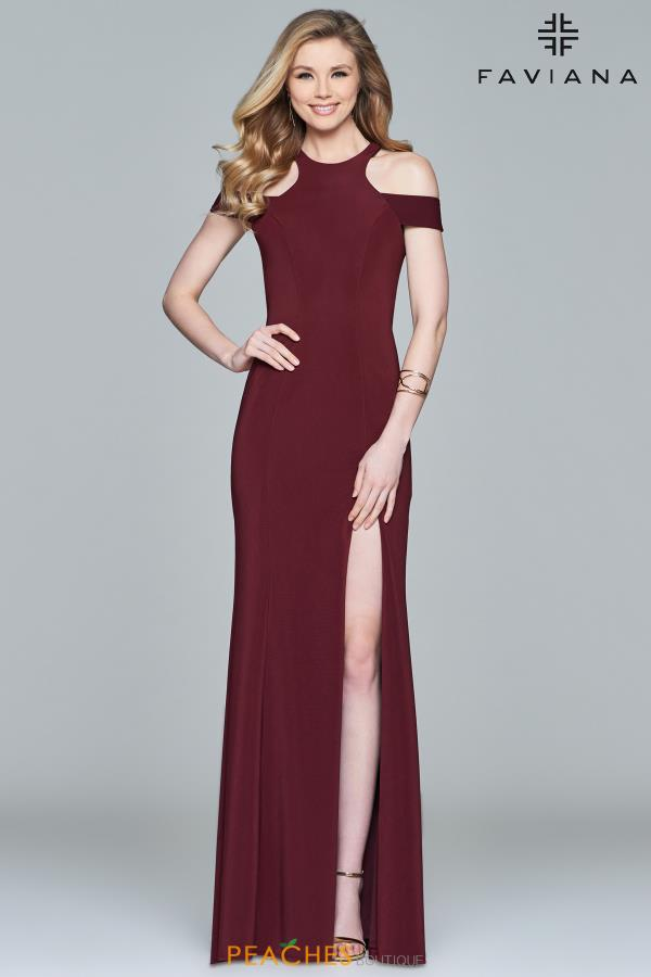 Faviana High Neckline Fitted Dress 8086