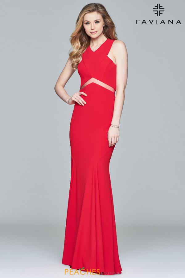 Faviana Long Fitted Dress S8084