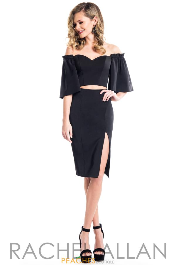Rachel Allan Two Piece Satin Dress L1085