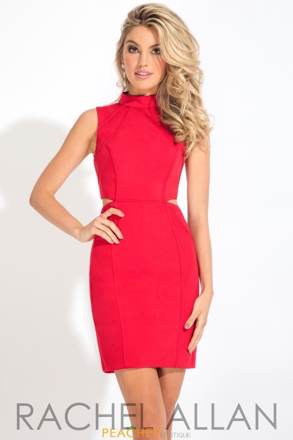 Rachel Allan High Neckline Dress L1105