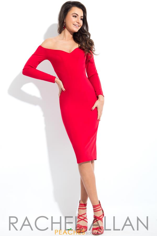 Rachel Allan Long Sleeve Short Dress L1121