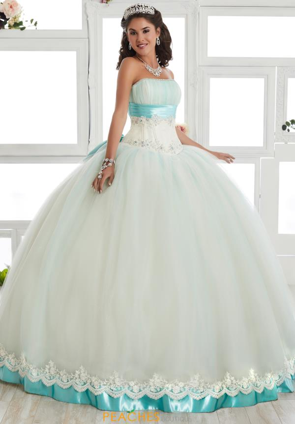 Tiffany Quinceanera Lace Back Beaded Gown 24012