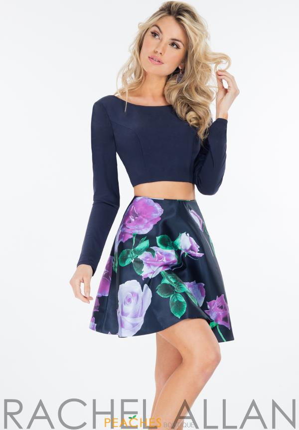 Rachel Allan Jersey Two Piece Dress 4443