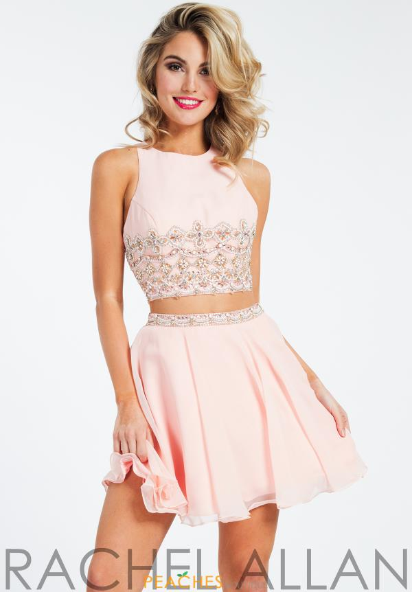 Rachel Allan Two Piece Beaded Dress 4576