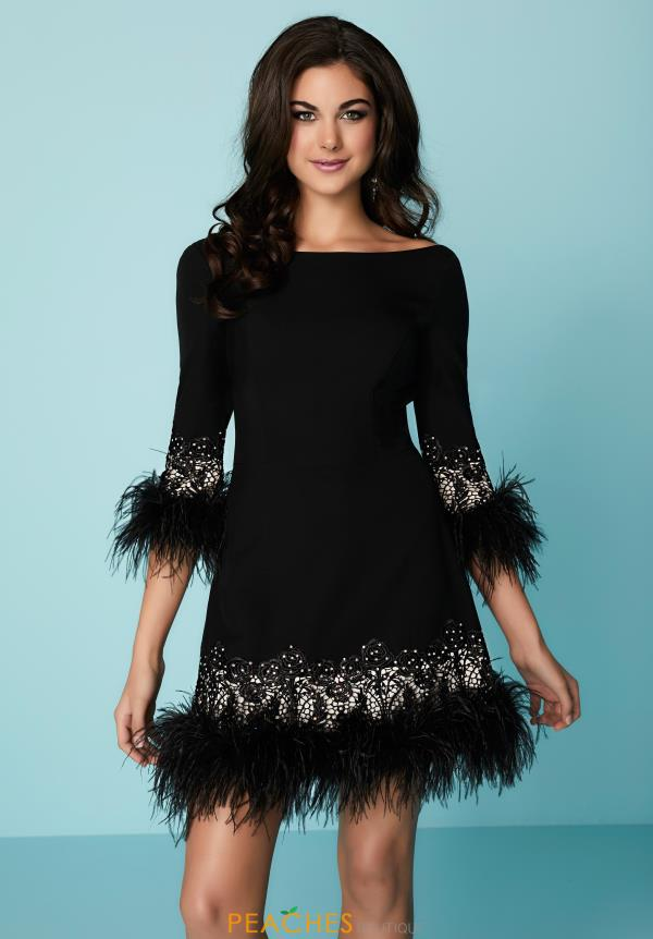 Hannah S Short feather Dress 27142