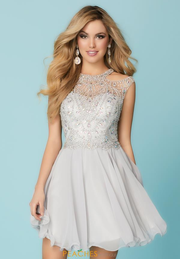 Hannah S Beaded High Neckline Dress 27151