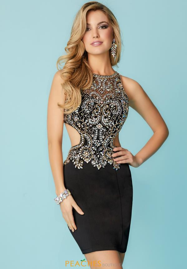 Hannah S Beaded Short Dress 27157