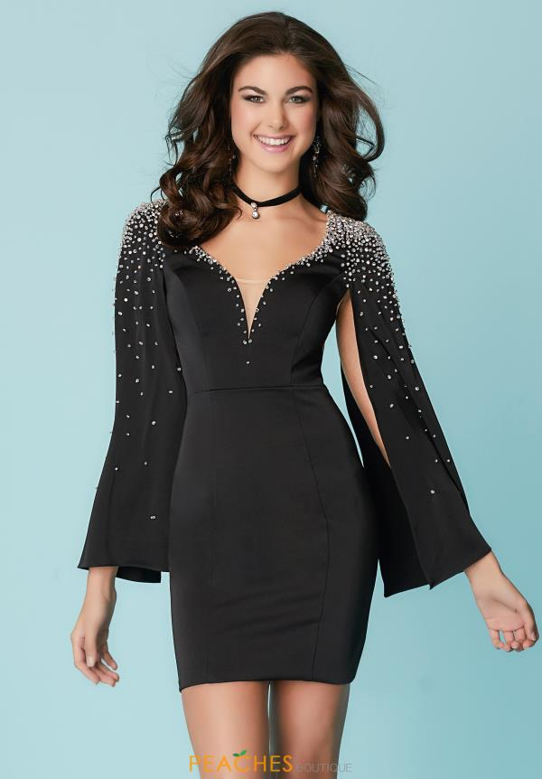 Hannah S Black Fitted Dress 27176
