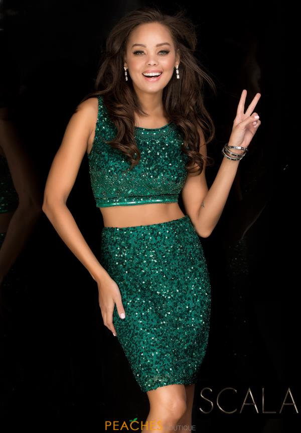 Scala Beaded Two Piece Dress 25417