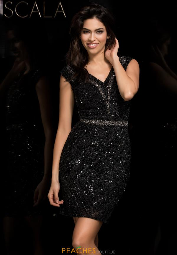 Scala Sequins Fitted Dress 48763