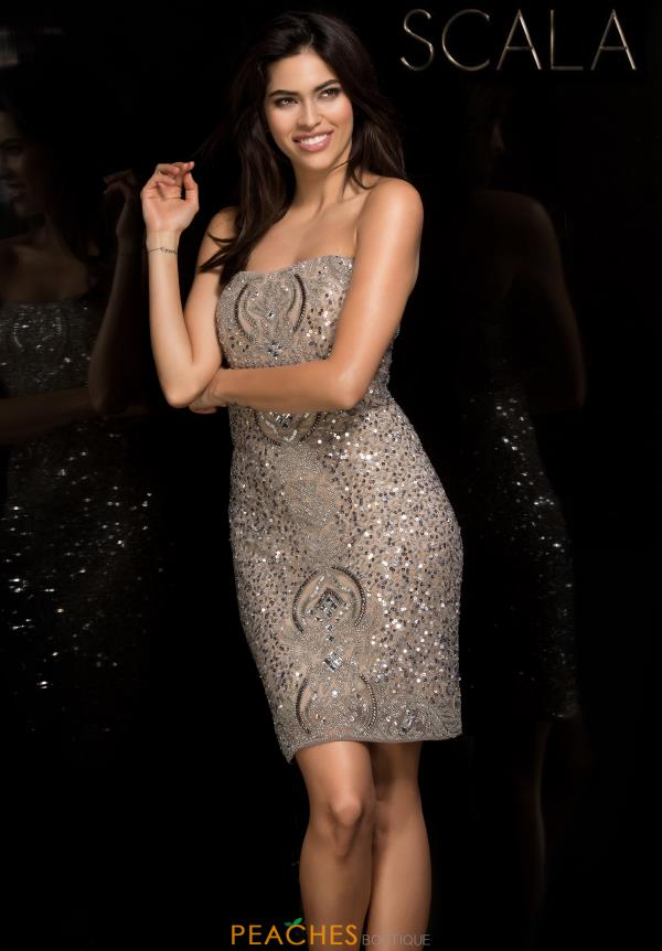 Scala Strapless Beaded Dress 48779